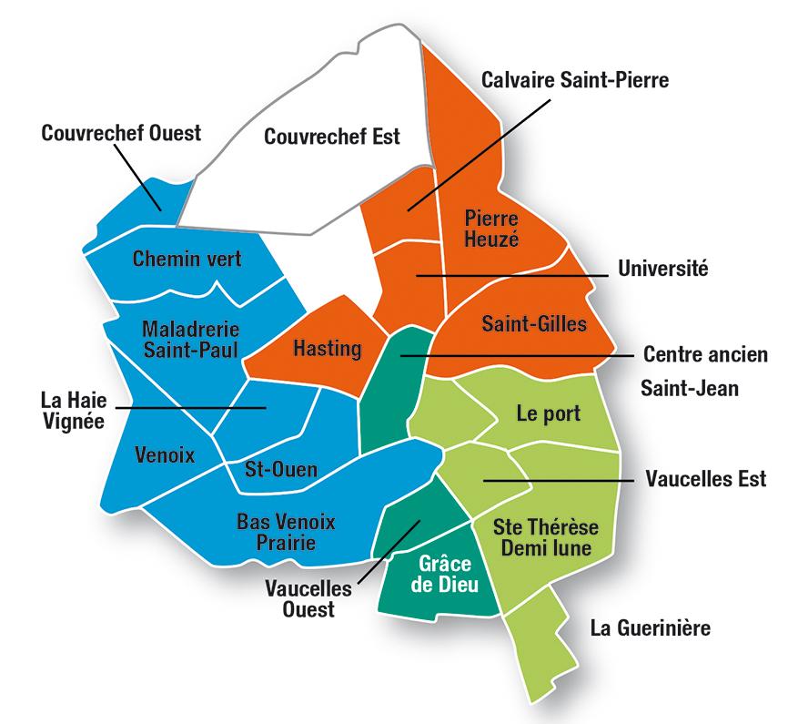 Secteur Gographique Caen Plaine Sur La Ville De
